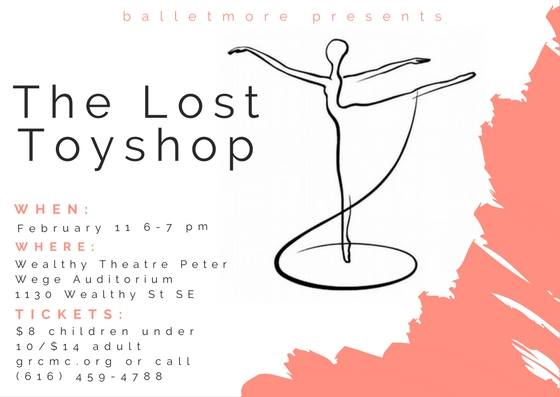 Balletmore's new ballet 'The Lost Toyshop' premieres on Saturday